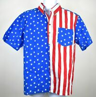 Chubbies The Nutter American Flag The HEAD OF STATE Pullover Shirt 4th of July