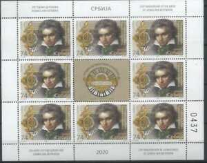 Serbia 2020 Music, Composers, Ludwig Van Beethoven MNH**
