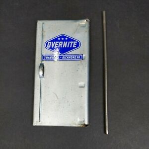 Vintage Ertl Overnite Semi Trailer Rear Door Pressed Steel Trailer International