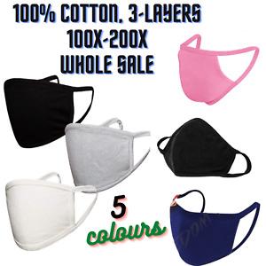 Face Mask Protective Breathable Cotton Washable Reusable Wholesale Job lot Uk