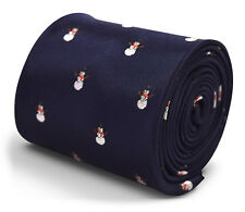 Frederick Thomas Christmas Mens Tie with Snowman pattern FT3311