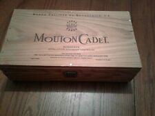 MOUTON CADET BARON PHILIPPE DE ROTHSCHILD WOODEN  BORDEAUX WINE BOX