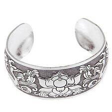 Silver Flower Adjustable Ym Bangle Bracelet Tibet Tibetan