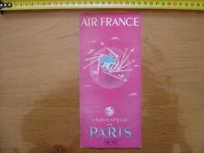 1949 Dépliant horaires & tarifs time table AIR FRANCE Indicateur de Paris AVION