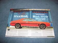 "1969 AMC Javelin SST Article ""It's a Mod, Mod, Mod World!"" Big Bad Orange"