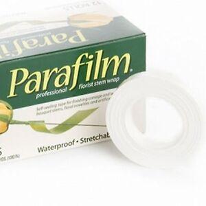 1x WHITE PARAFILM® Wedding Craft Florist Stem Wrap Floral Tape Waterproof 27m