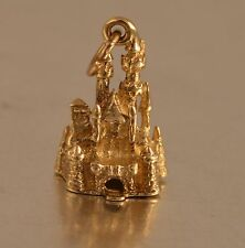 CG14k GOLD WALT DISNEY MAGIC KINGDOM CASTLE VINTAGE  PENDANT CHARM
