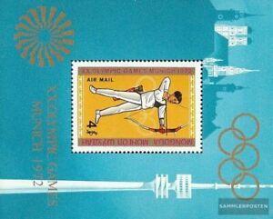 Mongolia Bloque 29 nuevo con goma original 1972 olímpicos juegos de verano ´72