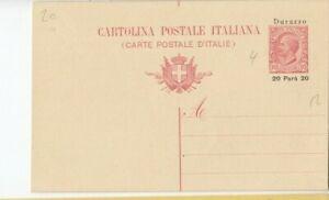 Uk412/ Italien Post Durazzo Ganzsache 4 *