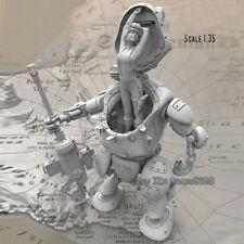 Unpainted 1/35 Mechanical female soldier Figure Resin Garage Kit Character Model