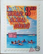 James Cauty 054-3rd Danger Global Warming enhanced Stamp of Mass Destruction.