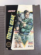 Metal Gear Ultra - Nes Nintendo Original Game Cartridge Tested Works