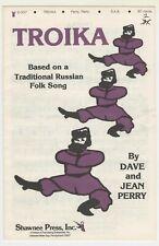 Choral Music:Troika -S.A.B. -Qty.14 - Shawnee Press (D-337)