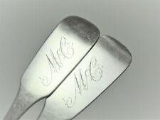Pair coin silver tablespoons Cooke & White, Norfolk Virginia circa 1830