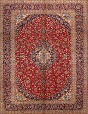 Exceptional Traditional Floral Hand-Knotted Medallion Oriental Area Rug 10x13