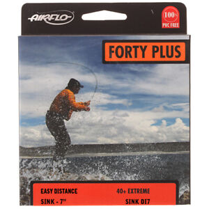 Airflo FORTY PLUS 40+ EXTREME DI7 Sinking Weight Forward Fly Line Black/Sunrise