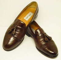 MEZLAN Made in SPAIN 9 M Brown Leather Slip On Loafer Shoes GOOD USED CONDITION