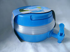 NEW BLUE FOLDING COMPACT WATER DRINKS CONTAINER BOTTLE WITH TAP 3.3L NT 96025