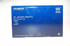 Olympus M.Zuiko Digital 1:1,8 75mm ED MSC Objektiv MicroFourThirds OVP