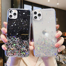 STAR GLITTER Case For iPhone 11 Pro Max 7 8 XR X XS Clear Bling Phone Case Cover