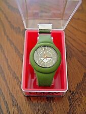 New Crow The Prospect Silicone Watch (Olive Green)