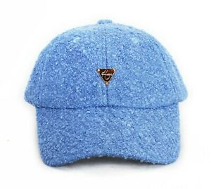 Hater Blue Boucle Strapback Dad Hat Cap Snapback Sherpa NEW