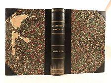 Antique 1877 Scribner's Monthly ~ Volume XIV ~ Leather ~ Richard Henry Stoddard