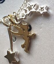 Silver Plated Tinkerbell Sprinkle A Little Magic Necklace NIB