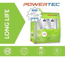 Powertec H4 LongLife 4x längere Lebensdauer Halogen Lampen Duobox + W5W gratis