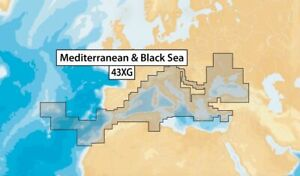 NAVIONICS+ 43XG Mediteranean & Black Sea, µSD-Karte