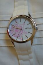 Ed Hardy Neo White Watch with White Silicone Rubber Strap