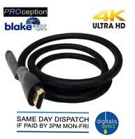 Premium HDMI Cable v1.4 High Speed 3D 4K Ultra HD 2160p Video Lead 1M Blake UK