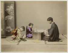 Photo Tirage Albuminé Ecolier Japon Japan Vers 1880