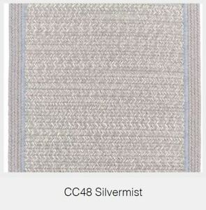 Casual Comfort Bordered Wool Country Cottage Classic Braided Rug Silvermist CC48