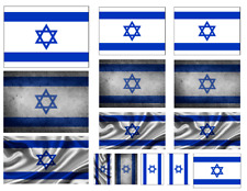 1/35 scale Israel flags on 100% cotton canvas. model/diorama military