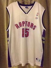 Vintage Vince Carter White Toronto Raptors Champion Jersey Size 48 XL
