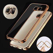 Slim Coque Housse Etui Soft TPU Bling Silicone Metal Bumper Pr Samsung Galaxy S8
