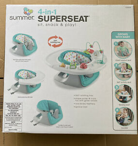 Summer Infant 4-In-1 Super Seat Teal, Support- Activity- Feeding- Booster New
