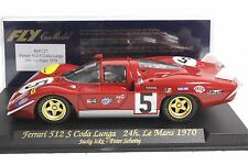 FLY C27 FERRARI 512S CODA LUNGA LE MANS 1970 NEW 1/32 SLOT CAR IN DISPLAY CASE