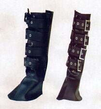 Stiefelstulpen pirata la edad media LARP mosquetero negro hebilla piratas-botas