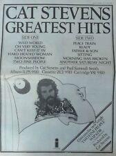 Cat Stevens : Greatest Hits -Poster Size Newspaper Advert- 1975 30cm X 40cm