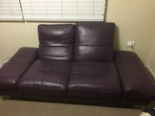 Moving sale - genuine leather sofa in excellent condition