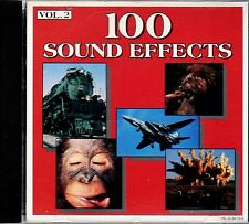 100 SOUND EFFECTS VOL. 2 - OVER 60 MINUTES OF PRO F/X FOR HALLOWEEN & MORE! (CD)