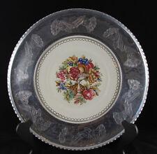 Vintage Triumph Limoges Imperial Victorian Platter Farberware Aluminum, 1920s