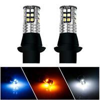 2* T20 7443 Canbus Switchback LED Light Bulb Turn Signal Day Night Running Light