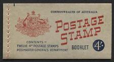 Australia - 1958 - 4/ Booklet - Sg# Sb33a - Pfeffer B60Bt - Waxed Interleaves