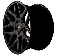 Fondmetal Stc-Ms Noir Brillant Jante 10.5x20 - 20 Pouces 5x114.3 Cercle Primitif