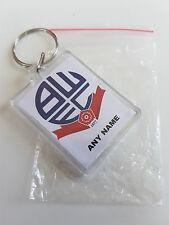 Personalised Bolton wanderers football keyrings