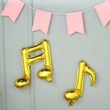 6 Gold Music Notes Mylar Foil Balloons Wedding Birthday Event Party Decorations