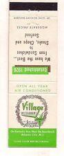 Village Restaurant Kentucky Avenue, Atlantic City NJ Matchcover 072417